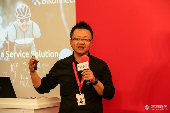 微程式吳騰彥總經理,講解新產品「Bikonnect 」如何達到虛實整合