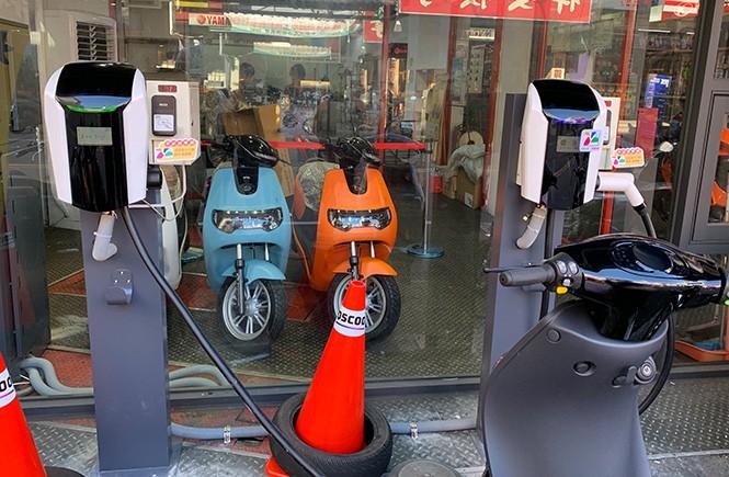電子投幣器應用於電動機車充電站